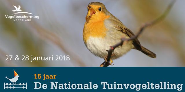 15 jaar Nationale Tuinvogeltelling @ Uw eigen tuin